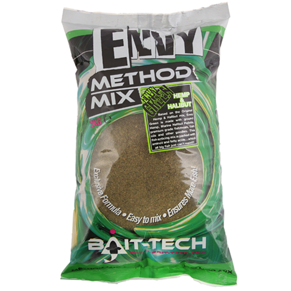 Krmivo Bait-tech Envy Green Hemp/Halibut Method Mix 2kg