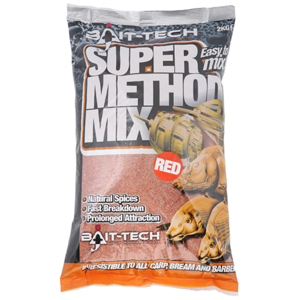 Krmivo Bait-tech Super Method Mix RED