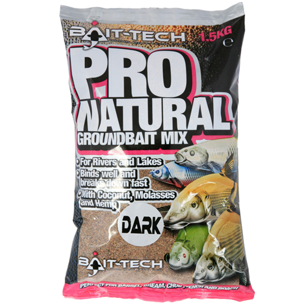 Krmivo Bait-tech Pro Natural Dark Groundbait Mix 1,5kg