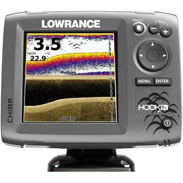 Sonar na more Lowrance Hook 5X Chirp/DSI, 60°- 90° a 30° - 55°
